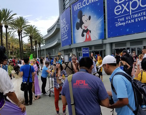Aout 100,000 people attended the fifth annual D23 expo, a biennial convention for Disney fans. The event took place ver the course of three days.